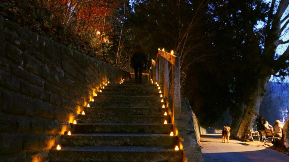 Beleuchtungsaktion Ölrain-Treppe